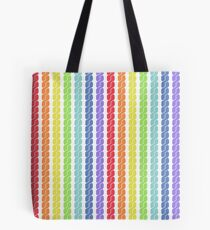 rainbow plait seamless pattern Tote Bag