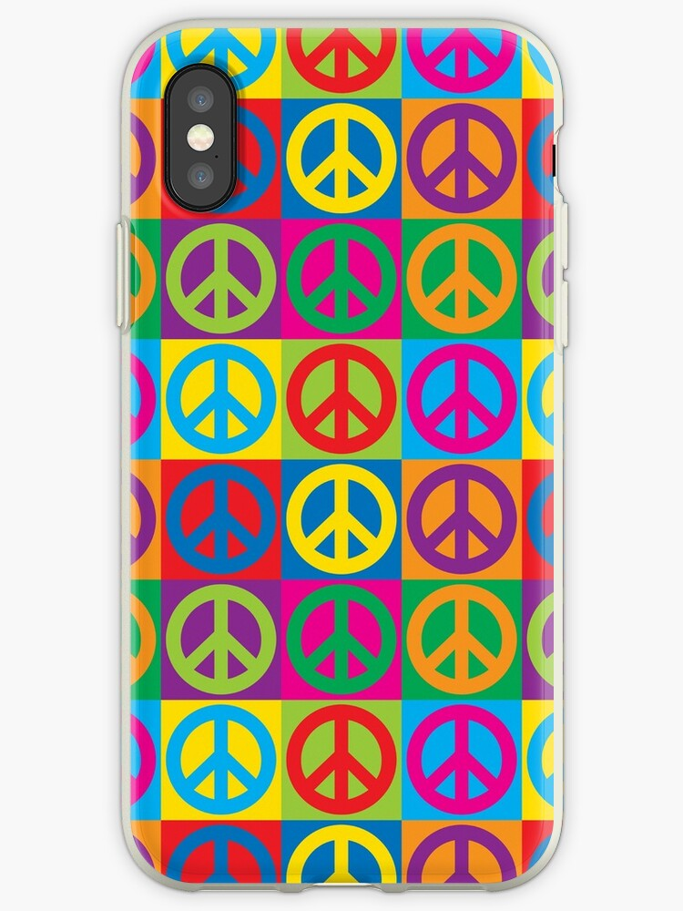 Pop Art Peace Symbols Iphone Cases Covers By Lisann Redbubble