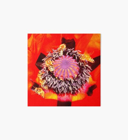 Poppy and Bees Art Board