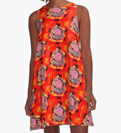 Poppy and Bees A-Line Dress