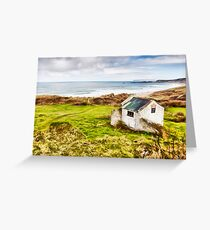 White Park Bay Cottage Greeting Card
