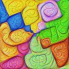 Asymmetry of color foam #DeepDream by blackhalt