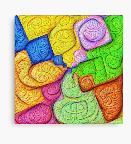 Asymmetry of color foam #DeepDream Canvas Print