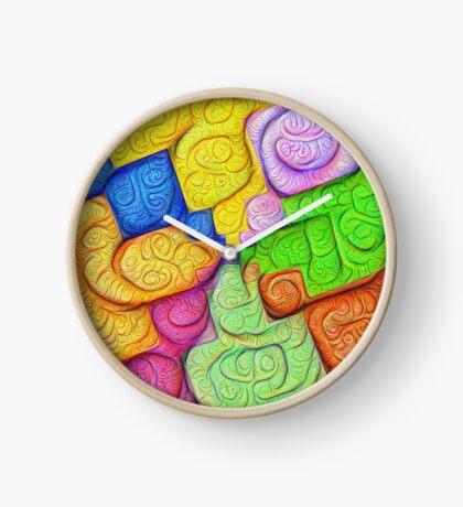 Asymmetry of color foam #DeepDream Clock