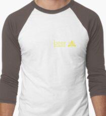 Growing Beer Light Text Men's Baseball ¾ T-Shirt