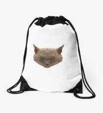 Low Poly Cat Drawstring Bag