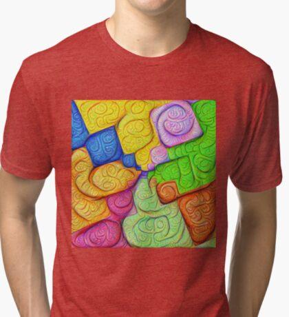 Asymmetry of color foam #DeepDream Tri-blend T-Shirt