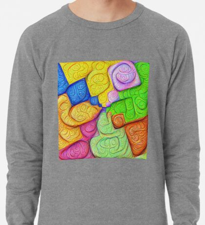 Asymmetry of color foam #DeepDream Lightweight Sweatshirt