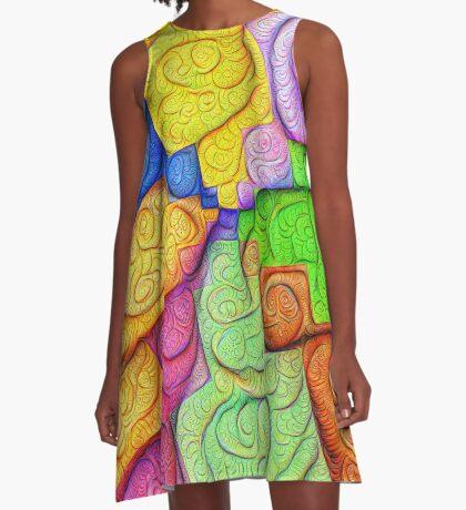 Asymmetry of color foam #DeepDream A-Line Dress