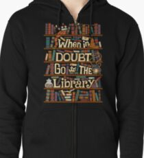 Go to the library Zipped Hoodie