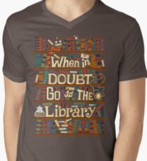 Go to the library Men's V-Neck T-Shirt
