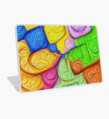 Asymmetry of color foam #DeepDream Laptop Skin