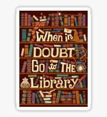 Go to the library Sticker