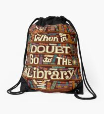 Go to the library Drawstring Bag