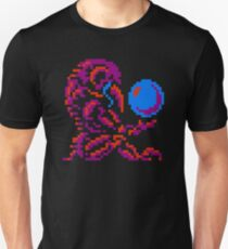 Metroid Chozo - Pink on Black T-Shirt