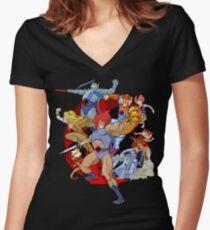 Camiseta entallada de cuello en V Thundercats