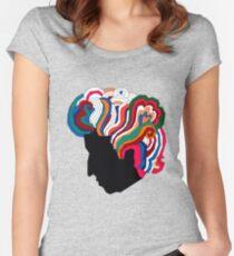 Bob Dylan Regenbogen Tailliertes Rundhals-Shirt