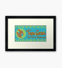 Tapu Cocoa - Distressed Logo Framed Print