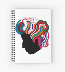 Bob Dylan Rainbow Spiral Notebook