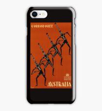 AUSTRALIA CORROBOREE; Vintage Travel Advertising Print iPhone Case/Skin
