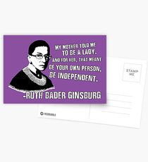 Revolutionary Women: Ruth Bader Ginsburg Postcards