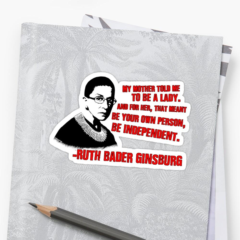 Revolutionäre Frauen: Ruth Bader Ginsburg Sticker