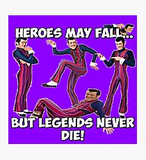 Robbie Rotten - Legends Never Die! Photographic Print