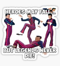 Robbie Rotten - Legends Never Die! Sticker
