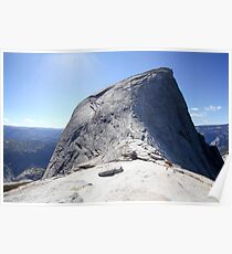 Climbing Half Dome rock at Yosemite national Park, California USA Poster