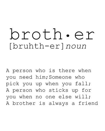 CHRISMAS GIFT For Brother Big Art Gift Ideas Print Definition Birthday