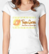 Tapu Cocoa - Distressed Logo 2 Women's Fitted Scoop T-Shirt