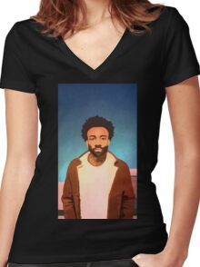 childish gambino - the rappers Women's Fitted V-Neck T-Shirt