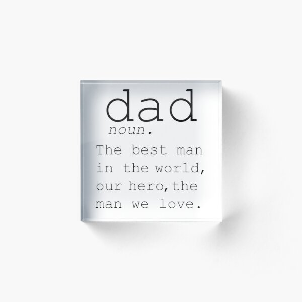Typewriter Dad Definition Holiday Art DEFINITION OF DAD Funny Wall Art Daddy Print Fathers Day Dad Art Modern Printable Art Father Quote Acrylic Block