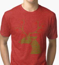 christmas Rudolp Tri-blend T-Shirt