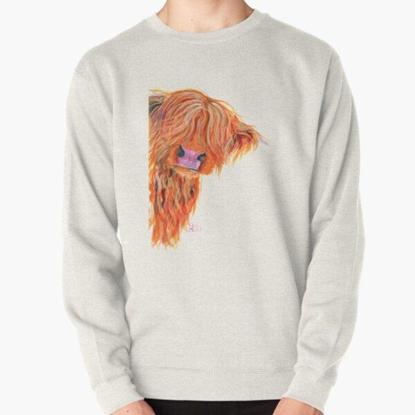 HIGHLAND COW 'PEEKABOO' BY SHIRLEY MACARTHUR Pullover Sweatshirt