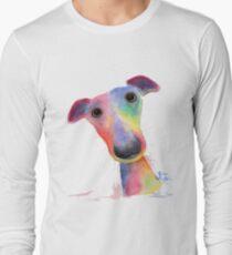 WHiPPeT GReYHouND DOG 'HANK' BY SHIRLEY MACARTHUR Long Sleeve T-Shirt