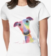 WHiPPeT GReYHouND DOG 'HANK' BY SHIRLEY MACARTHUR Women's Fitted T-Shirt