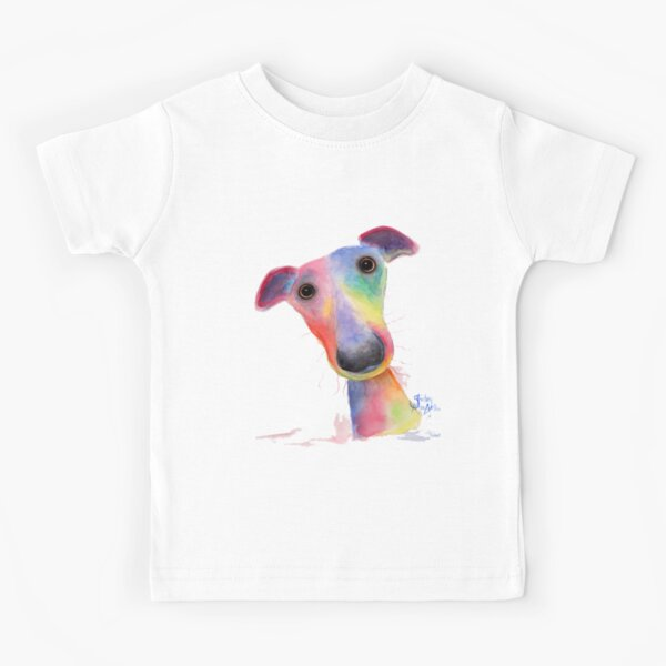WHiPPeT GReYHouND DOG 'HANK' BY SHIRLEY MACARTHUR Kids T-Shirt