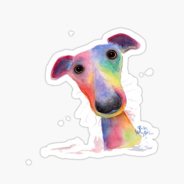 WHiPPeT GReYHouND DOG 'HANK' BY SHIRLEY MACARTHUR Sticker