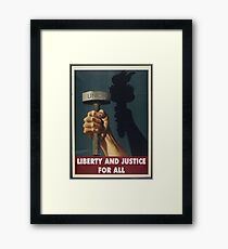 Union Posters: Liberty and Justice Framed Print