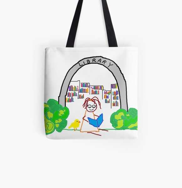 Jenny Quips:  Jenny Reads! All Over Print Tote Bag