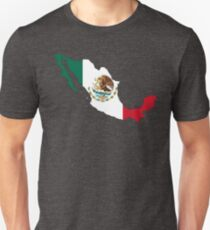 Mexico Flag Map Unisex T-Shirt