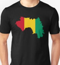Guinea Flag Map Unisex T-Shirt