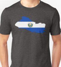 El Salvador Flag Map Unisex T-Shirt