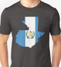 Guatemala Flag Map T-Shirt