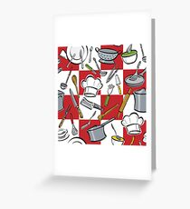 Kitchen Tools Checkerboard Greeting Card