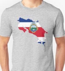 Costa Rica Flag Map Unisex T-Shirt