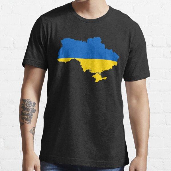 Ukraine Flag Map Essential T-Shirt