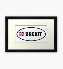 BREXIT BUMPER STICKER Framed Print
