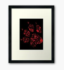 Naughty Dog - 30th Paw Framed Print